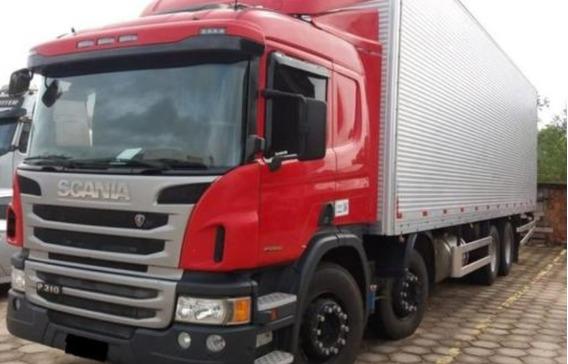 Scania P310 8x2 Bau De Aluminio 9,50 Mts Ano 2014