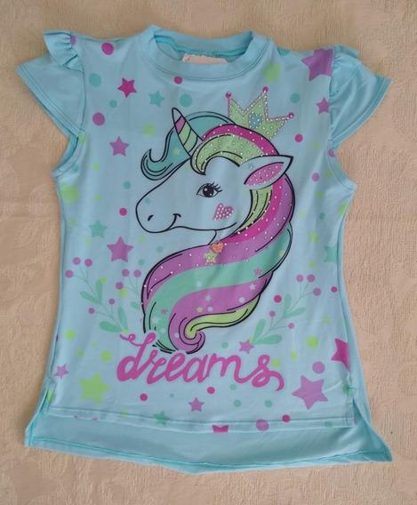 Blusa Niña Estampado Unicornio