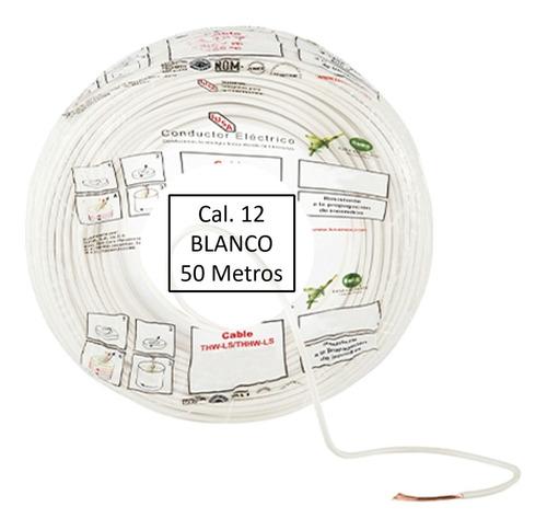 Imagen 1 de 1 de Bolsa 50 Mts Cable Iusa Blanco Thw Cal 12 Awg 100%cobre
