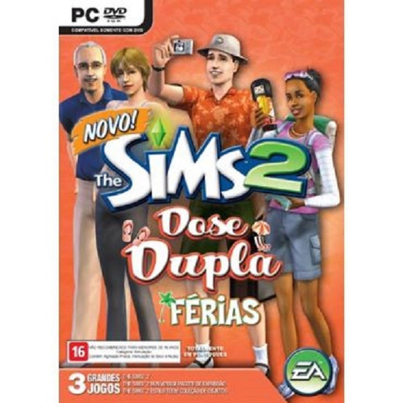 Game Pc The Sims 2 Dose Dupla Férias + Bom Voyage + Estilo T