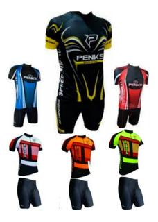 Conjunto Roupa Camisa E Bermuda Bike Ciclismo Bicicleta