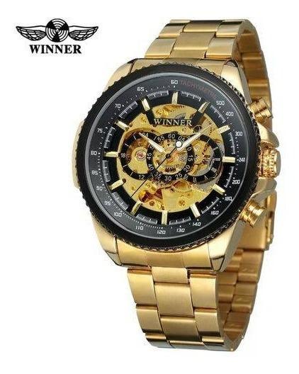 Relógio Winner Automático Dourado