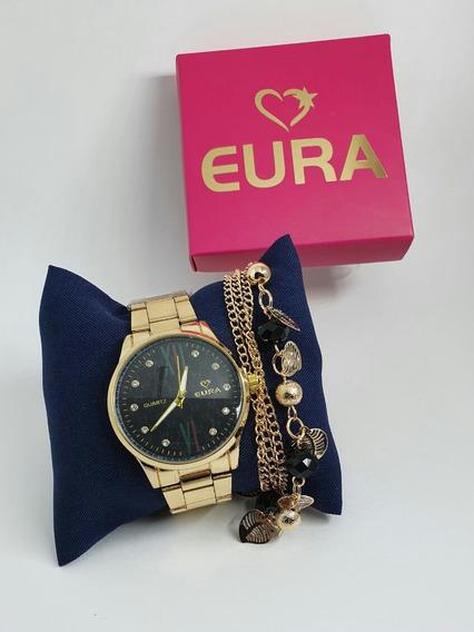 5 Relógios Femininos C/caixa E Pulseira 5pçs Kit Revenda