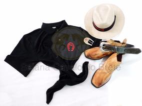 Kit Peao Botina + Chapéu + Camisa E Cinto + Brinde Promoção