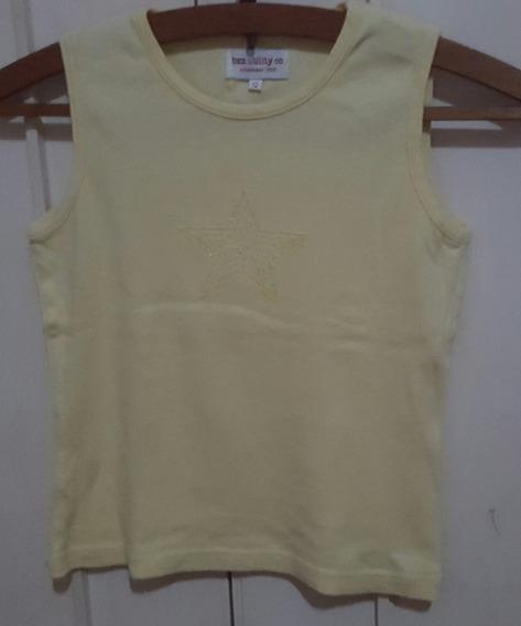 Remera Musculosa Nena Talle 12 Amarilla