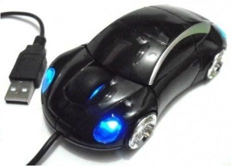 Promoção 25 Mouse Óptico Usb Modelo Carro Cabo Frete Grátis