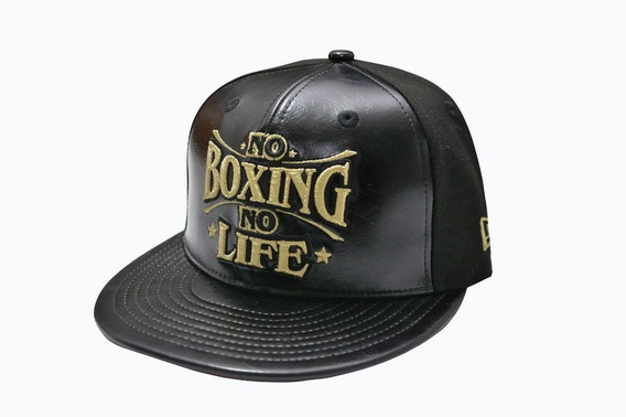 Gorra Original New Era No Boxing No Life Bordada Oro