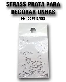 Strass Prata Para Decorar Unhas 1,5mm ( 48 X 100 Unidades )