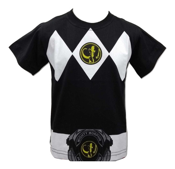 Camiseta Manga Curta Infantil Power Ranger 2 Ao 16 Anos