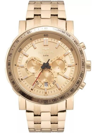 Relógio Technos Masculino Skymaster Dourado Js26ak/4x