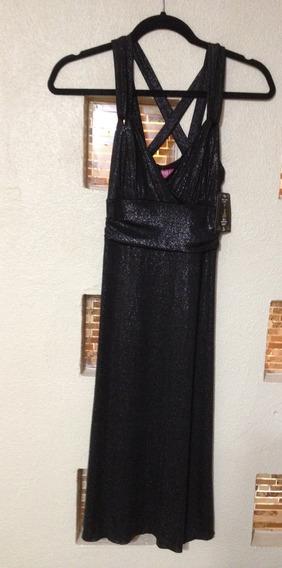 Vestido De Fiesta Negro, Talla Chica