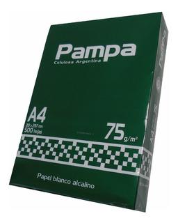 Resmas A4 75 Gr Pampa Caja X10 Unidades Papelera Cumbre
