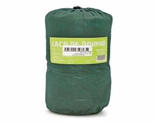 Saco De Dormir Solteiro Maringa 192x75 Com Ziper ( Verde )