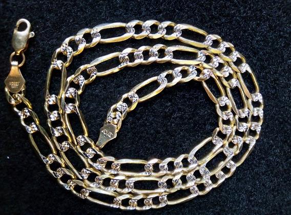 Cadena Oro 14k Diamantada 14kt Oro Macizo 55cm Msi