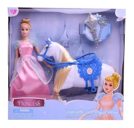 Muñecas Princesas Con Caballo 29 Cm Rapunzel O Cenicienta