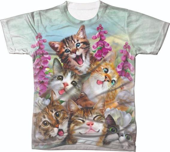 Camisa Camiseta Blusa Animal Gato Gata Cat Felinos Gatinhos