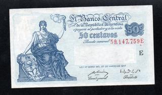 Billete 50 Centavos Moneda Nacional Progreso Bottero 1811