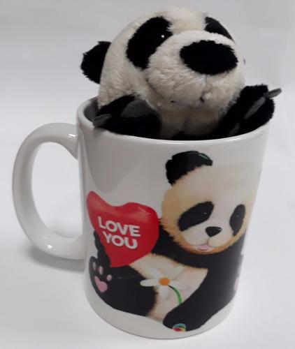 Imagem 1 de 10 de Presente Para Namorada Ursinho Panda Urso Nici 15cm + Caneca