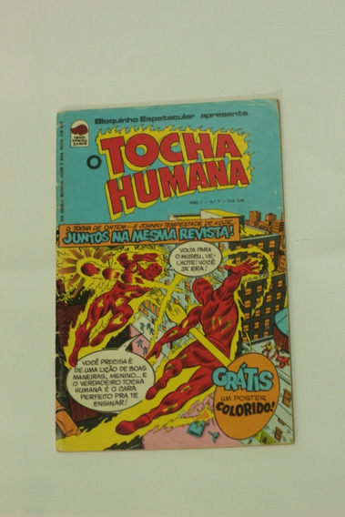Hq O Tocha Humana Ano 1 N°1 Bloquinho Espetacular Bloch 1975