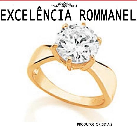 Anel Rommanel Solitario Zirconia Noiva 511261