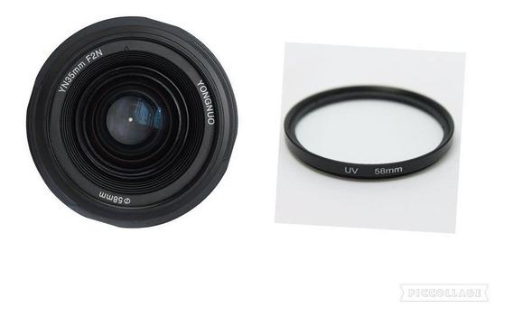 Lente Objetiva Yn 50mm F1.8 N Af Mf Yongnuo Nikon +filtro58m