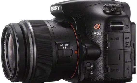 Câmera Sony Slt A57 18-55mm Completa E Bolsa Estado De Nova!