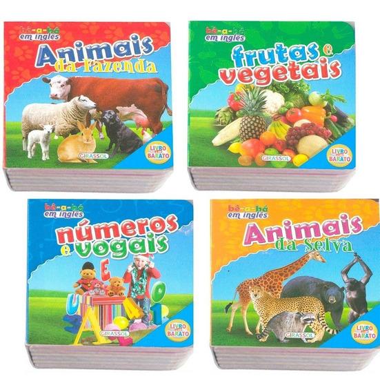Livros Para Bebê Inglês E Português Coleção Bê-a-bá 4 Vols.