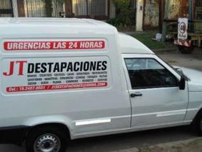 Destapaciones De Cloacas Con Máquina. Las 24hs.