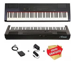 Piano Electrico 88 Teclas Con Peso Sensitivo Artesia Pa88h