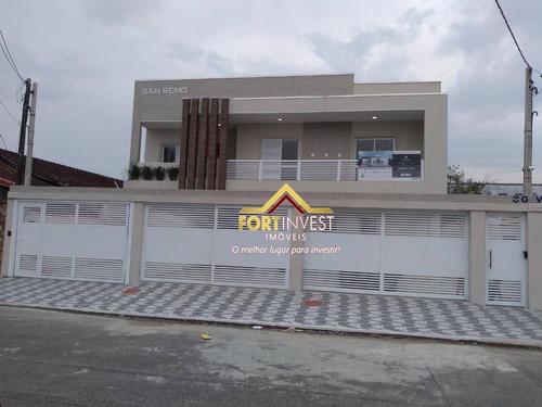 Casa Com 2 Dormitórios À Venda, 63 M² Por R$ 230.000,00 - Caiçara - Praia Grande/sp - Ca0500