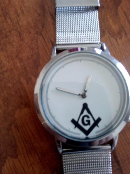 Reloj Masónico Blanco ( De Cuarzoo)
