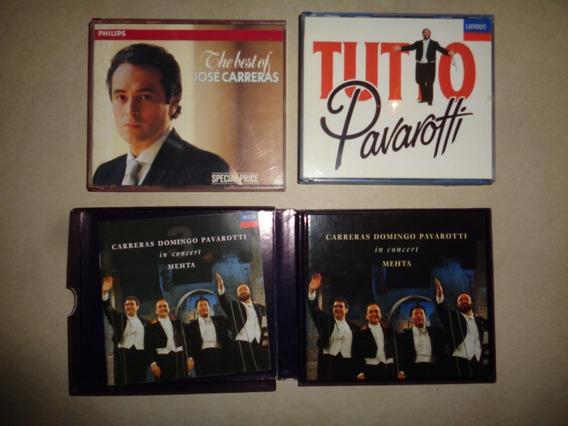 Lote 3 Cd Opera: Pavarotti Y Jose Carreras Excelente Estado