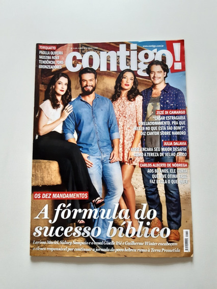 Revista Contigo Sidney Sampaio Larissa Giselle Itié C977