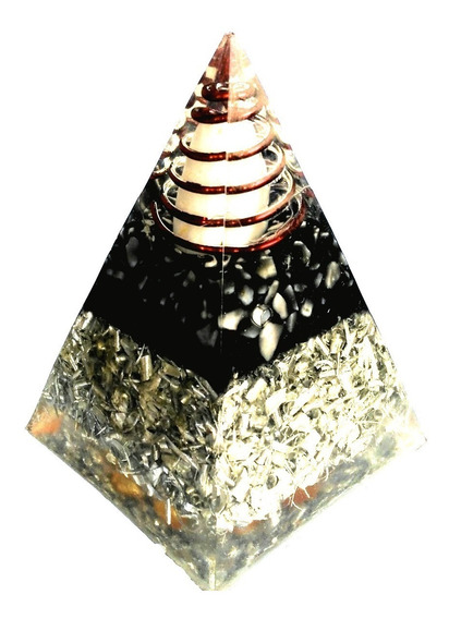 Orgónita En Forma Pirámide Tamaño Aproximado 7 X 10 Cms