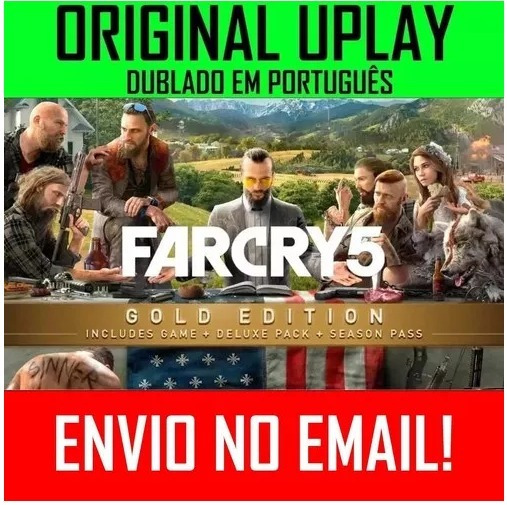 Far Cry 5 Pc Gold Original Uplay Melhor Que Steam