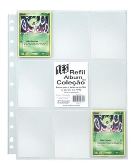 20 Folhas Para Álbum Pasta Fichário Yes - 9 Bolsos