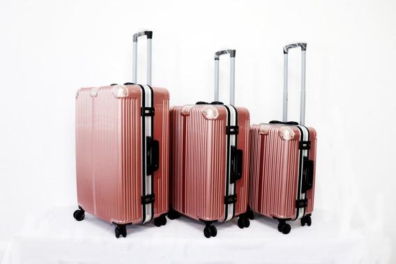 3pak Maletas De Viaje Refuerzo De Aluminio, C/envio + Regao