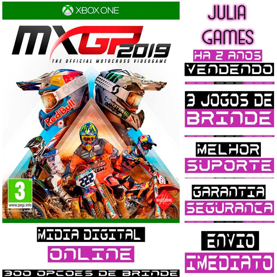 Mxgp 2019 - Xbox One - Midia Digital Online E Offline + 1 Jogo