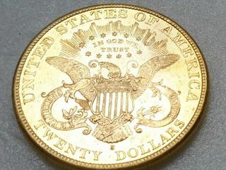 Moneda De Oro Coleccion 20d 1896 Ley 900 Garantia Beachin