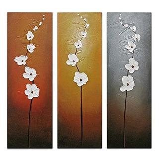 Wieco Art Moderno Contemporaneo Flores Artesania Decorativa