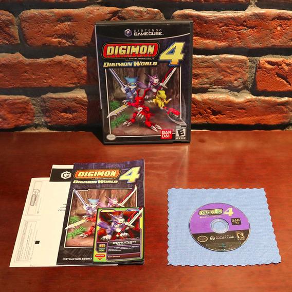 Digimon World 4 Raro C/ Dorumon Card Original Americano Completo Gamecube Wii