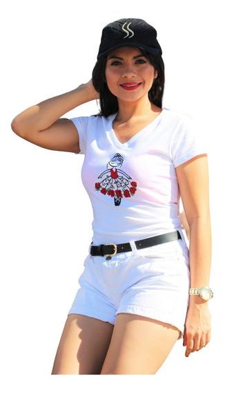 Blusa Bordada Bailarina De Flores