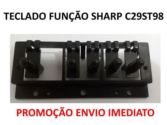 Kit 2x Teclado Funçao Tv Sharp C29st98, Envio Imediato