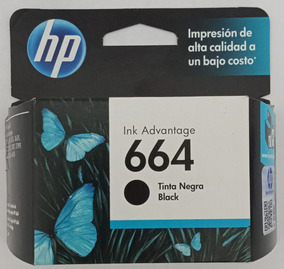 Cartucho Hp 664 Negro Original F6v29al Vigente Verificable