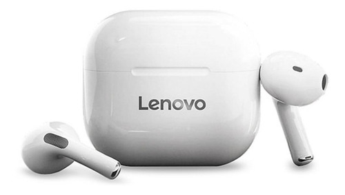 Imagen 1 de 3 de Audífonos in-ear inalámbricos Lenovo LivePods blanco