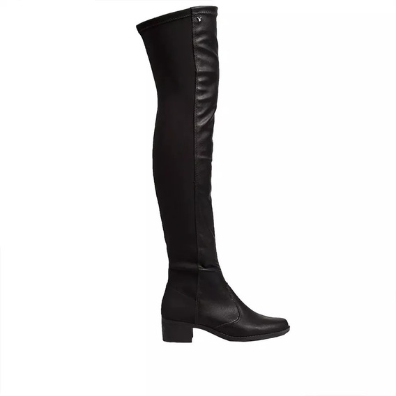 Bota Mississipi Over The Knee Preta Q0471 / X9413