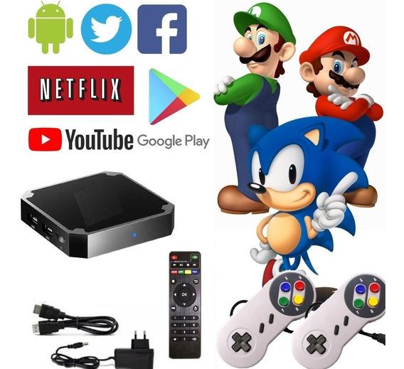 Video Game Retro Smart 12 Mil Jogos 2 Controles Super Nes