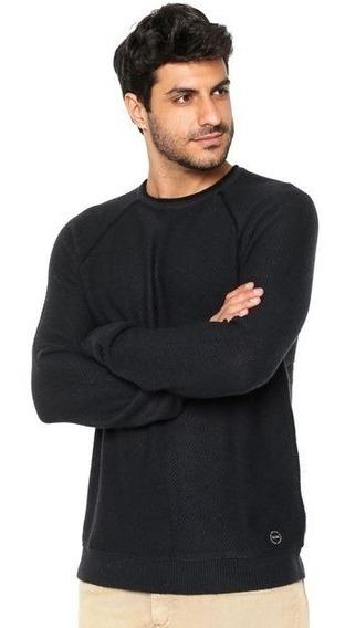 Suéter Tricot Ellus Wool Blend Azul Dom 100% Original