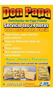 Papa Picada Y Pelada Para Polleria Y Restaurantes