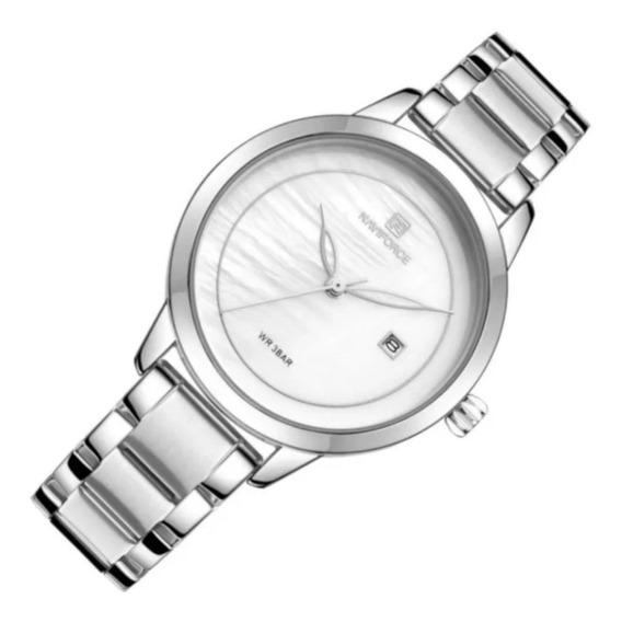 Relógio Feminino Naviforce Nf5008m Prata Casual